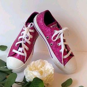 Converse All Star girls Glitter pink sneakers